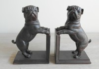 Set of 2 pug bookends
