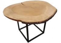 Custom made maple wood coffee table