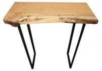 Custom made live edge wood console table