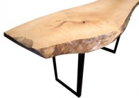 floor model sale live edge wood dining table 15%off