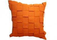 Burnt orange felt pillow
