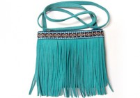 CUSTOM MADE SIDE LEATHER BAG – turquoise