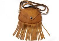 Custom made side leather bag – camel
