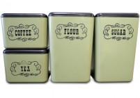 vintage plastic canister set of 4