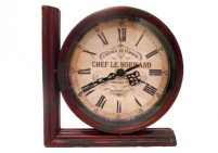Chef le normand bookend clock