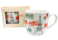 Paris illustration mug