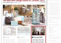 BlogTO Best design store 2012