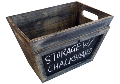 Attrayant Wooden Storage Box With Chalkboard